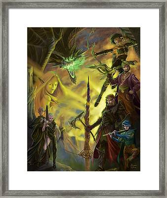 Champions Of Deniska Framed Print by Bryan Syme