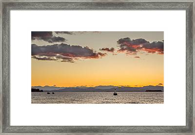 Adirondack Twilight Framed Print