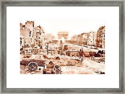 Champs-elysees 1871 Framed Print by Helge