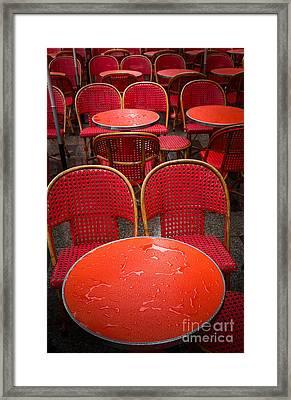Champs Elysees Cafe Framed Print by Inge Johnsson