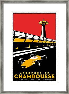 Chamrousse Grand Prix Framed Print by Georgia Fowler