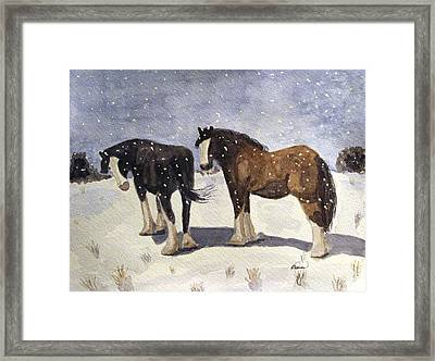 Chance Of Flurries Framed Print by Angela Davies