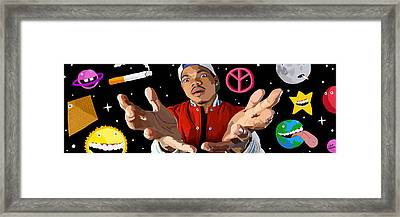 Chance The Rapper Digital Painting Framed Print