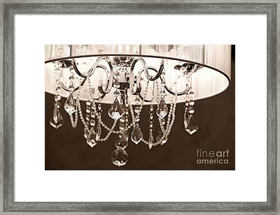 Framed Print featuring the photograph Chandelier by Aiolos Greek Collections