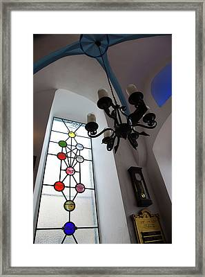 Chandelier At A Synagogue, Ari Framed Print