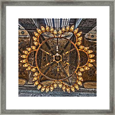 Chandelier At Hagia Sophia Framed Print