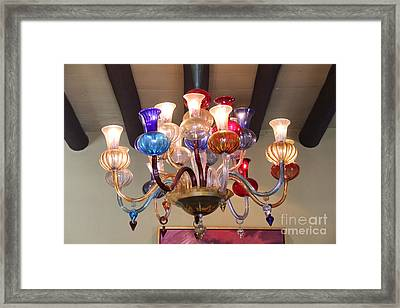 Chandelier At The Hotel California Framed Print by Linda Queally