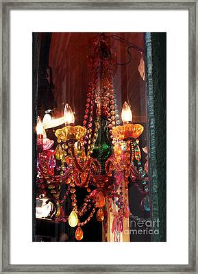 Chandelier Framed Print by John Rizzuto