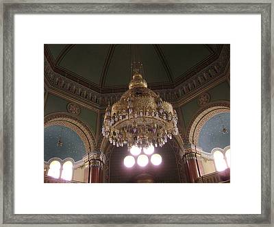 Chandelier Of Sofia Synagogue Framed Print