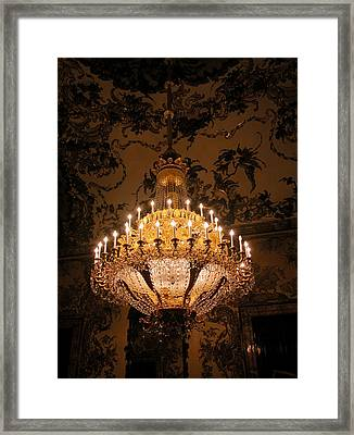 Chandelier Palacio Real Framed Print