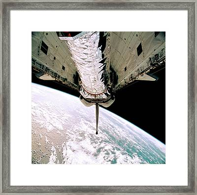 Chandra Observatory Onboard Space Shuttle Framed Print by Nasa