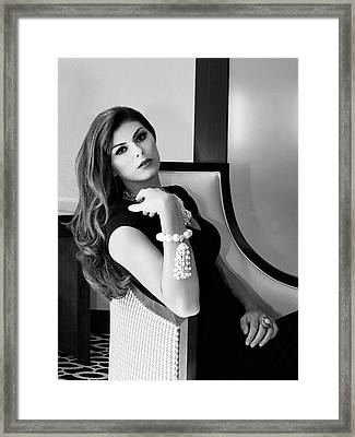 Chanel Chanel Bw Palm Springs Framed Print by William Dey