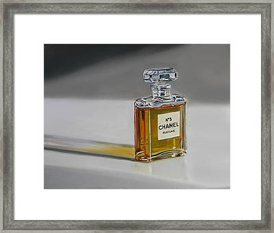 Framed Print featuring the painting Chanel No 5 by Gail Chandler