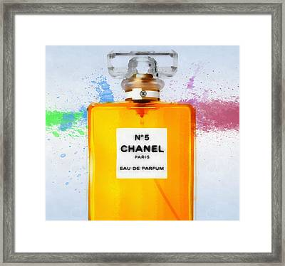 Chanel Number Five Paint Framed Print by Dan Sproul