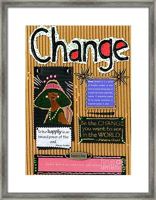 Change - Handmade Card Framed Print by Angela L Walker