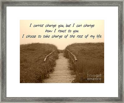 Change Framed Print by Lorraine Heath