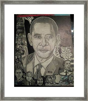 Change Yes We Can Framed Print by Demetrius Washington