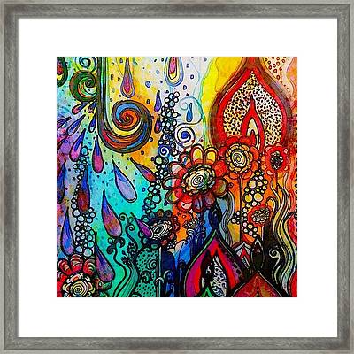 Changes ... #watercolor #doodle #fun Framed Print by Robin Mead