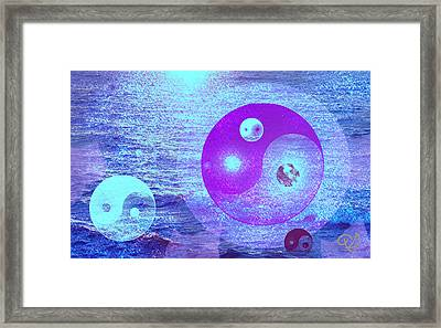 Changing Currents Of Reality Framed Print