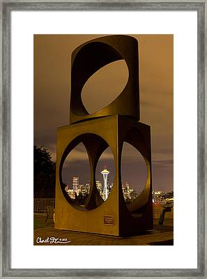 Changing Form Of Seattle Framed Print