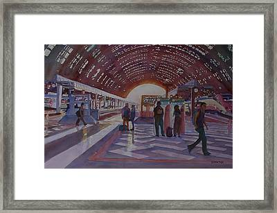 Changing In Milan Framed Print by Jenny Armitage