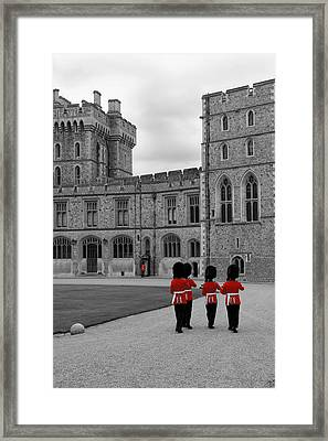 Changing Of The Guard At Windsor Castle Framed Print by Lisa Knechtel