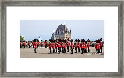 Changing Of The Guard The Citadel Quebec City Framed Print