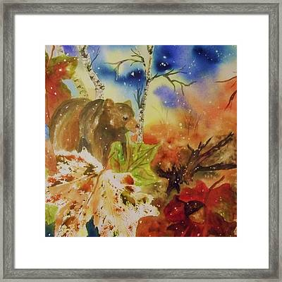 Changing Of The Seasons - Square Format Framed Print by Ellen Levinson