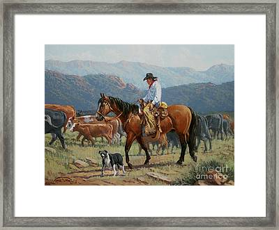 Changing Range Framed Print by Randy Follis