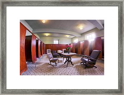 Changing Room At The Fordyce Bathhouse - Hot Springs - Arkansas Framed Print by Jason Politte