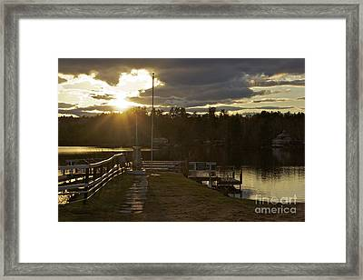 Framed Print featuring the photograph Changing Skies by Alice Mainville