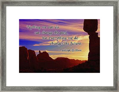 Changing The Future Framed Print