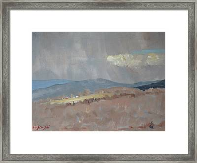 Framed Print featuring the painting Changing Weather by Len Stomski