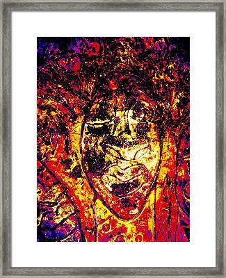 Chango Ra Framed Print by Cleaster Cotton