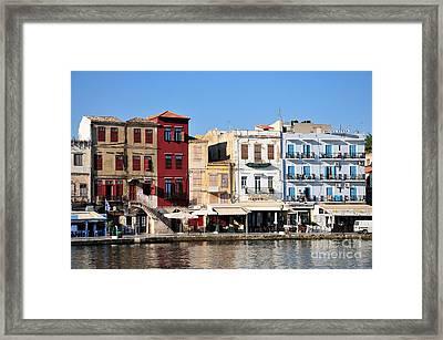 Chania City Framed Print by George Atsametakis