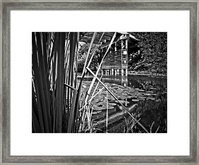 Framed Print featuring the photograph Channel by Adria Trail
