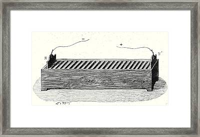 Channel Battery Framed Print by English School