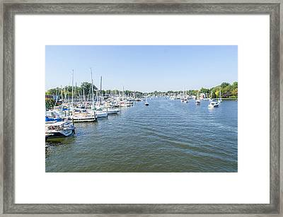Framed Print featuring the photograph Channel Down Spa Creek by Charles Kraus