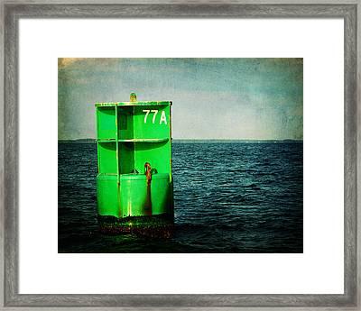 Channel Marker 77a Framed Print by Rebecca Sherman