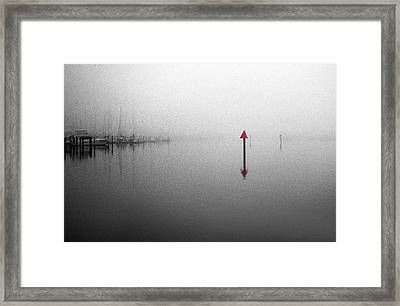 Channel Markers Framed Print by Skip Willits