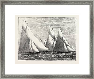 Channel Match Of The Royal London Yacht Club From Dover Framed Print