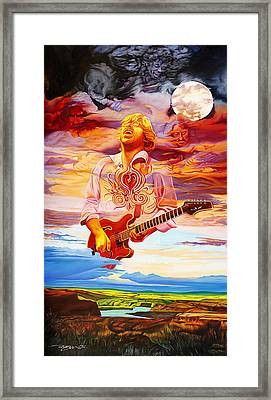 Channeling The Cosmic Goo At The Gorge Framed Print by Joshua Morton