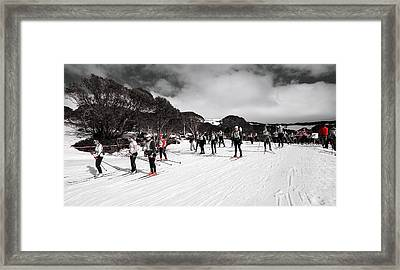 Channels Of Red Framed Print by Mark Lucey
