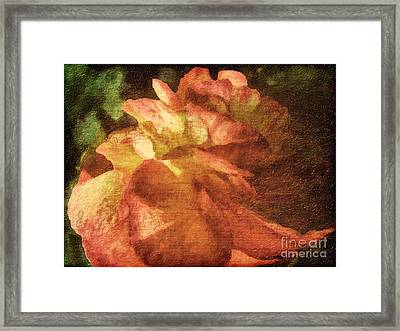 Framed Print featuring the digital art Chanson D'amour by Lianne Schneider