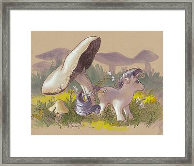 Chanterelle In Her Meadow Framed Print by Tracie Thompson