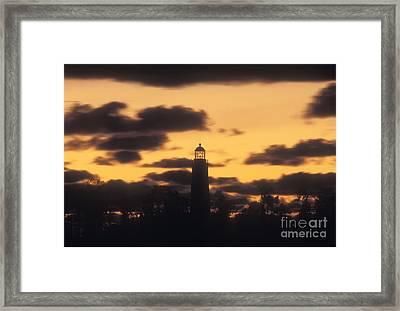Chantry Island Lighthouse - Fs000819 Framed Print by Daniel Dempster