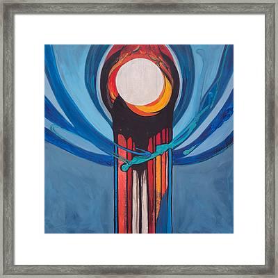 Chanukah Nes Gadol Framed Print by Marlene Burns