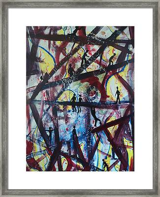 Framed Print featuring the painting Chaos And Calm by Justin Lee Williams