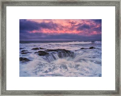 Chaos At The Well Framed Print by Darren  White