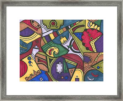 Chaos In The Hood Framed Print by Susie WEBER